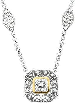 1/10 ct Diamond Filigree Necklace