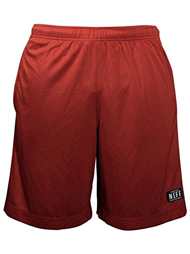 NEFF Men's Baller Layering Short, Maroon, Large