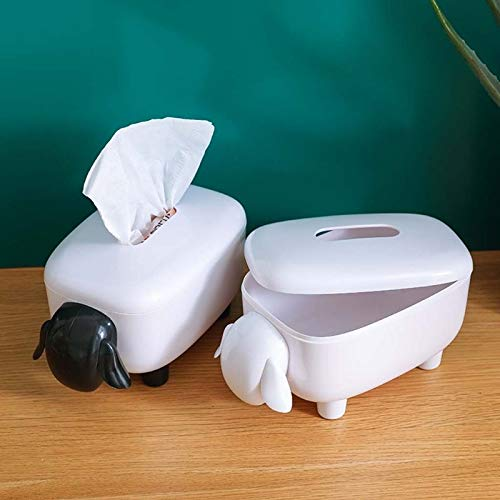 Color : Black Neuheit Schaf-Kasten-Abdeckungs-Serviette-Halter-Organisator Papierhandtuchspender Container for Badezimmer Auto-B/üro Wohnkultur