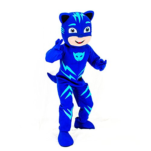 KF Blue PJ Mask Mascot Costume Catboy Party Adult Halloween Cosplay Connor Character]()