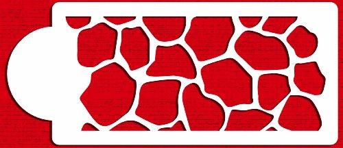 Designer Stencils C453 Giraffe Skin Cake Stencil, Beige/semi-transparent