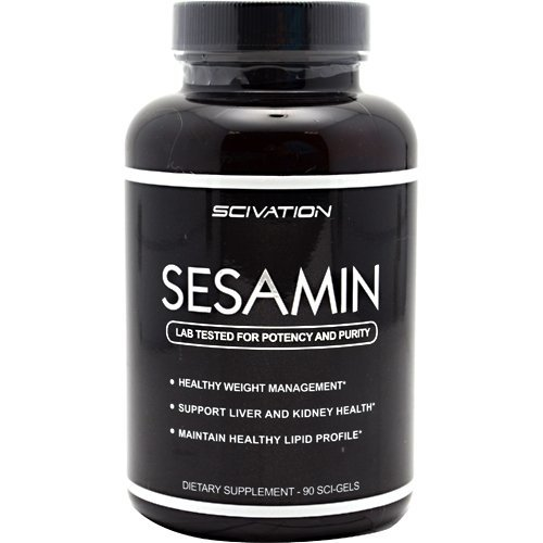 Sesamin 90 sci-gels Dietary Fats / Oils Supplements Scivation, Inc. by Scivation