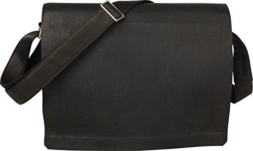 Harolds Campo borsa a tracolla pelle 36 cm nero