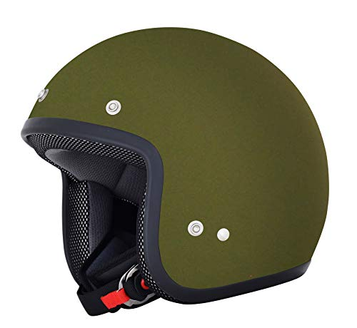 AFX FX-75 Unisex-Child Half-Size-Helmet-Style Youth Helmet (Flat Olive, Small) ()