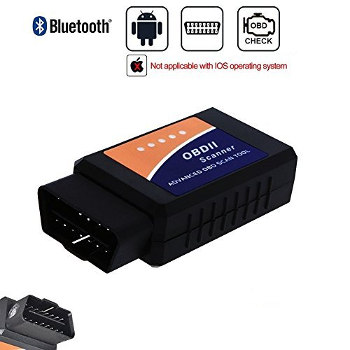 Golvery Bluetooth OBD OBD2 OBDII Car Diagnostic Scan Tool, Mini Wireless OBD Scanner Adapter, Check Engine Light Diagnostic Trouble Code Reader for Most Vehicles, for Android & Windows SmartPhone / PC