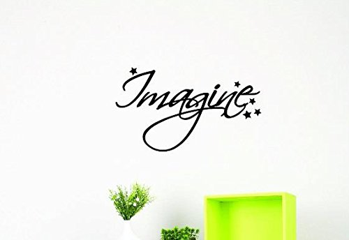 Black 16 x 40 Design with Vinyl US V JER 3335 3 Top Selling Decals Imagine Wall Art Size 16 Inches X 40 Inches Color