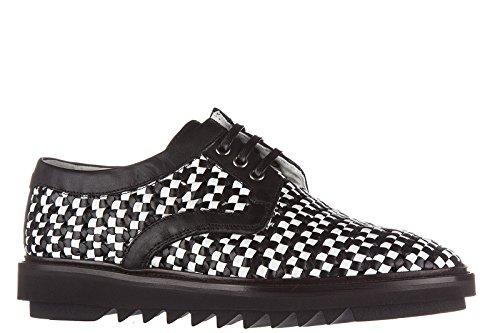Dolce & Gabbana Chaussures à Lacets Classiques Homme en Cuir Derby Noir