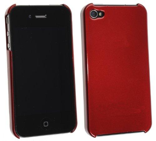 iPhone 4 Schutzhülle glänzend Rückseite ...::: ROT :::... mit ORIGINAL MAINBAY SET inkl. Horny Protectors (Notfallbumper für den iPhone 4 Besitzer) BEGRENZTE AKTION