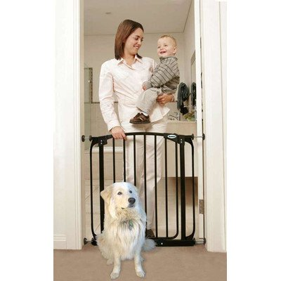Bindaboo Hallway Pet Gate, Swing Closed, Black