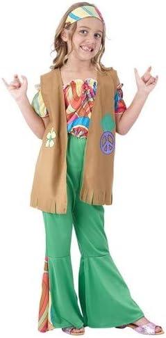DISFRAZ Hippie niña TALLA 5-6 AÑOS - 5-6 Años: Amazon.es: Juguetes ...