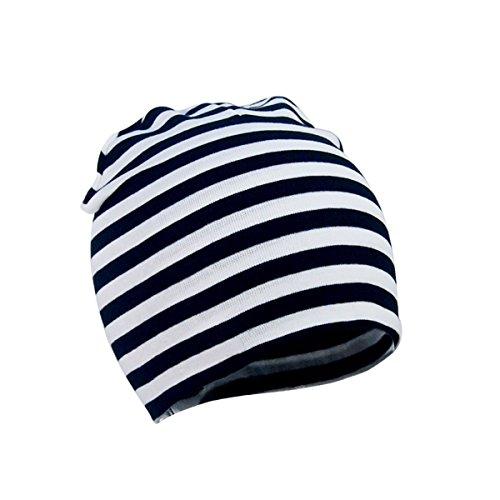G On Minion Costume (Zando Toddler Infant Unisex Kids Children Cotton Newborn Soft Cute Lovely Knit Warm Baby Essentials Hat Beanies Cap G Black White Stripe Large (1-4 years))