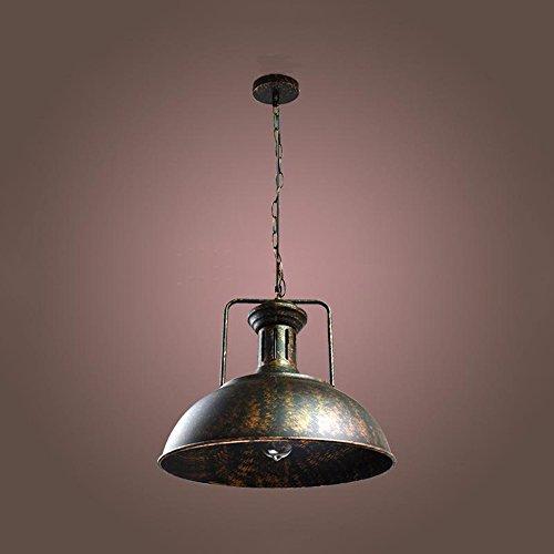 110V-240V Ceiling light retro hat-shaped iron single-head chandelier paint living room restaurant pendant light - Head Shaped Pendant