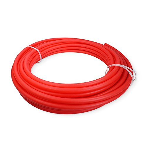 Pexflow PFR-R12300 Oxygen Barrier PEX Tubing for Hydronic Radiant Floor Heating Systems, 1/2 Inch x 300 Feet, Red by PEXFLOW