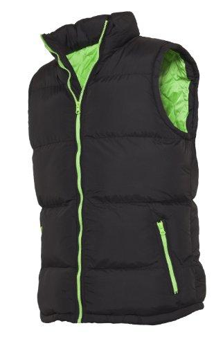 """Urban : """"Contrast Bubble Vest"""" Size: XS, Color: black-limegreen …TB299"""