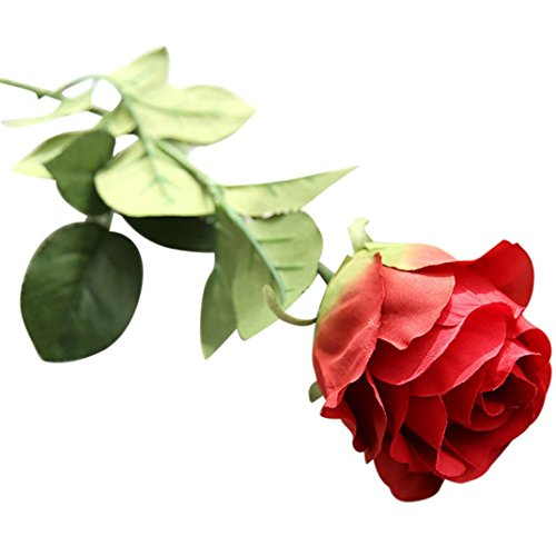 Hot Sale!!Woaills Artificial Fake Roses Flannel Flower Bridal Bouquet Wedding Party Home Decor (Red) (Thank You Note After Receiving A Gift)