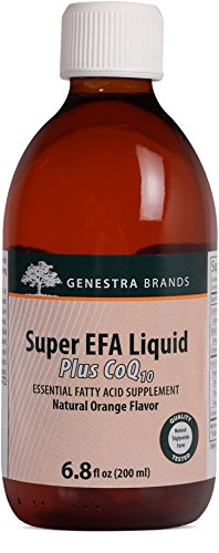 Genestra Brands - Super EFA Liquid Plus CoQ10 - Essential Fatty Acid Formula to Support Cardiovascular Health* - 6.8 fl oz (200 ml) by Genestra Brands