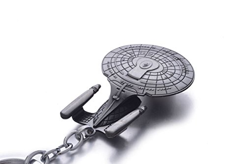 Star Trek Inspired Enterprise D Spaceship Key Chain and Pendant