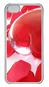 iPhone 5C Case Transparent Heart PC iPhone 5C Case Cover Transparent
