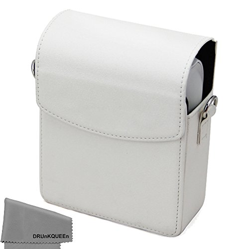 Drunkqueen Fujifilm Instax Share Sp 1 Case   Pu Leather Skin Cover Comprehensive Protection Instax Share Smartphone Printer Sp 1 Case Bag   White