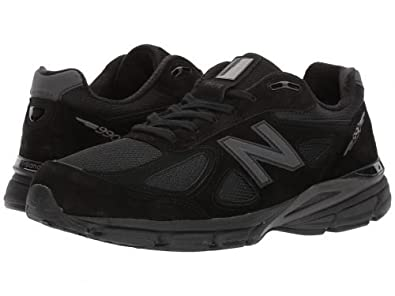 detailed look 47c96 05a17 New Balance Men's 990v4 Running Shoe (8.5 4E Wide) Black/Grey
