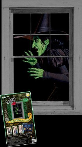 WOWindow Posters Green Wicked Witch Halloween Window Decoration 34.5''x60'' Backlit Poster
