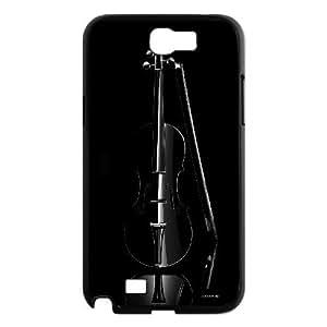 3D iPhone 5,5S Case black violin, Elegant Design, {Black}