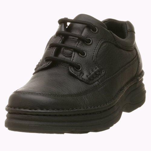 Nunn Bush Men's Cameron Oxford (14 W US, Black Tumble) (Black Leather Tumble)