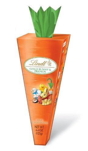 Lindt Chocolate Carrot Box filled with Gold Bunny & Friends 4.4 oz