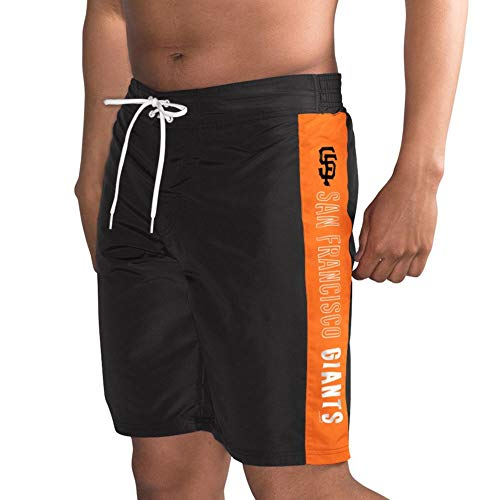 San Francisco G-III Sports by Carl Banks Home Run Swim Trunks - Black/Orange (X-Large) - Mens Giants Francisco San Shorts