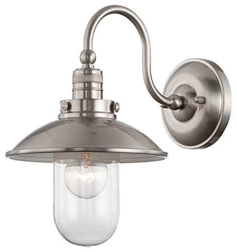 Minka Lavery 71162-84 Downtown Edison 1 Light Wall Sconce, Brushed Nickel Finish