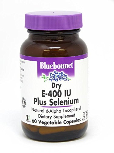 BlueBonnet Dry E-400 IU Plus Selenium Vegetarian Capsules, 60 Count