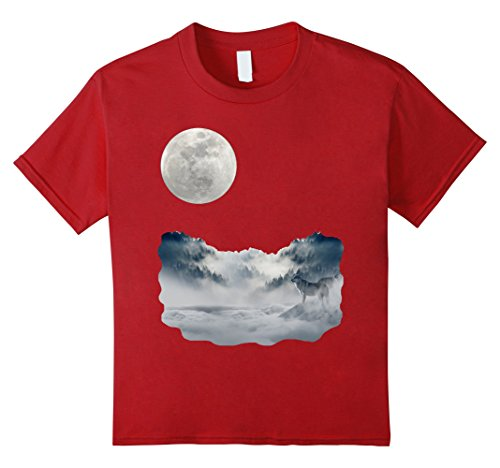 Kids Wolf Pack Shirt Vintage 90s Themed Dreamscape World 8 Cranberry (90s Themed Clothes)