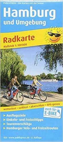 Hamburg Und Umgebung Radkarte Mit Ausflugszielen Einkehr