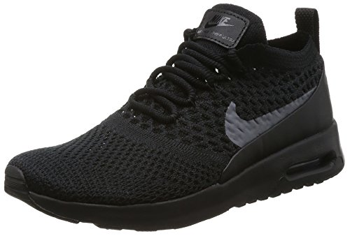 NIKE Women's Air Max Thea Ultra Flyknit Trainers, (Black/Dark Grey), 8 M US (Nike Air Max 90 Leather Black Grey)