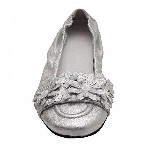Ballet Flower Schmenger Pump 8 Detail Kennel Soft Leather Silver Und IpAY7A