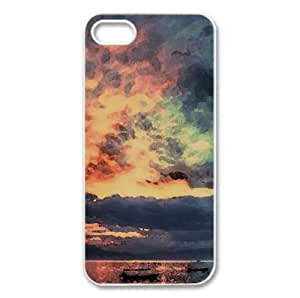 Mirror Lake Sunrise Watercolor style Cover iPhone 5 and 5S Case (Lakes Watercolor style Cover iPhone 5 and 5S Case)
