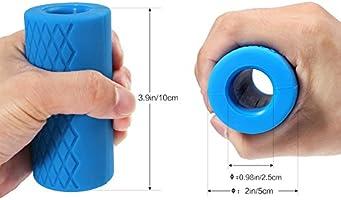 Pellor – Agarraderas universales de silicona para pesas, barras ...