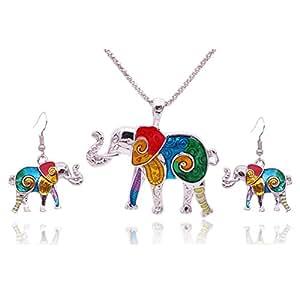 Amazon.com: Miraculous Garden Womens Elephant Jewelry Sets