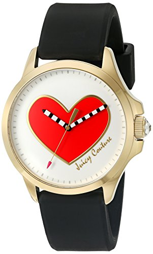 Juicy Couture Women's White Gold Silicone Strap Watch - 3