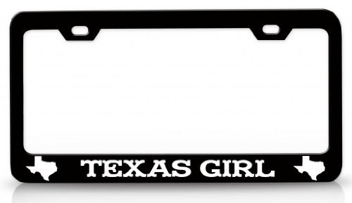 Dub Frame Child Dub (License Plate Covers Texas Girl Texas Map Steel Metal License Plate Frame Bl # 2)
