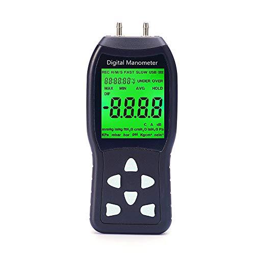 - Digital Manometer, Professional Air Pressure Meter, Differential Pressure Gauge HVAC Gas Pressure Tester (Measuring Range: ±20.68 kPa)