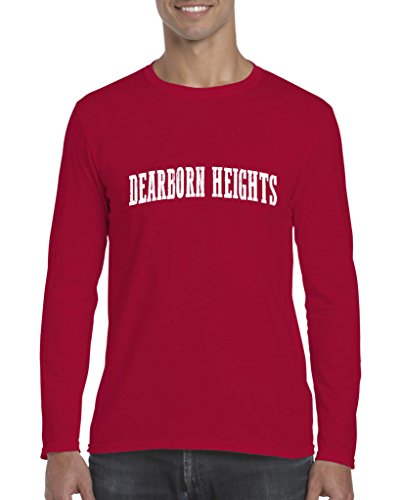 Mom's Favorite Michigan T-Shirt Dearborn Heights Home Of University Of Michigan Wolverines MI Mens Long Sleeve - Stores In Mi Dearborn