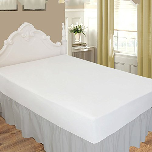 ARlinen Ruffled/Gathering Solid Bed Skirt Soft Brushed Micro