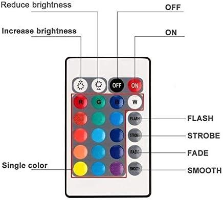Mallalah Vaso portafiori per Immersioni Fonte di Luce LED Impermeabile Piscina idromassaggio Piscina Telecomando Pistola di Pesci Impermeabile Luce per Immersioni Luce di Colori Luci