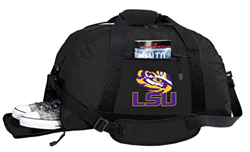 Broad Bay NCAA LSU Tigers Duffel Bag - LSU Gym Bags w/Shoe Pocket