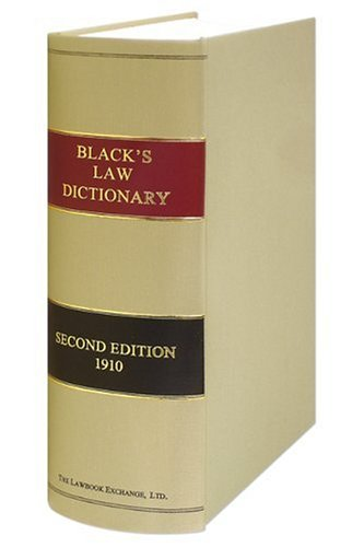 Black's Law Dictionary: Second Edition