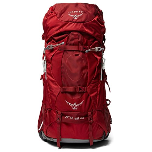 Osprey Ariel 65 Womens Hiking Backpack Medium Picante Red ()