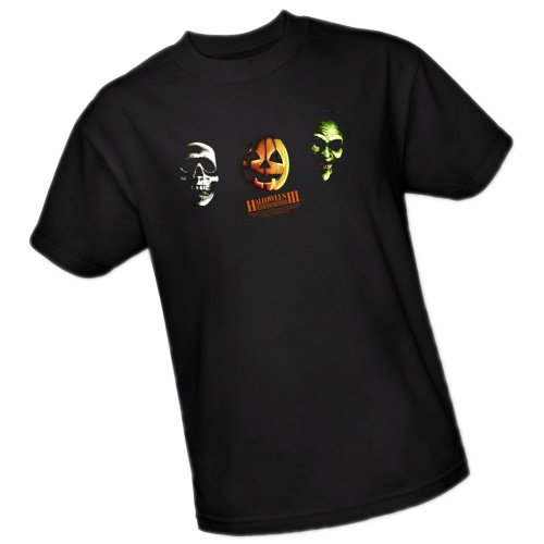 Three Masks -- Halloween Adult T-Shirt, -