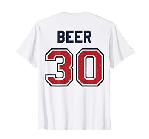 Beer 30 Athlete Uniform Jersey Funny Baseball Gift Graphic T-Shirt