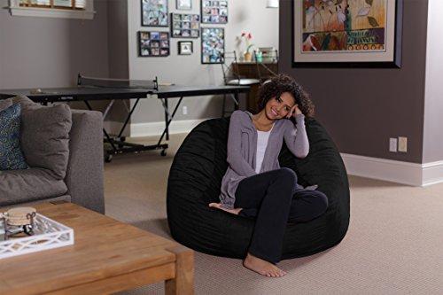 Sofa Sack - Bean Bags Memory Foam Bean Bag Chair, 4-Feet, Black